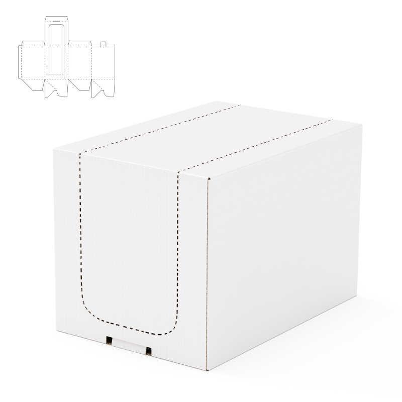 白色长方体纸板包装盒