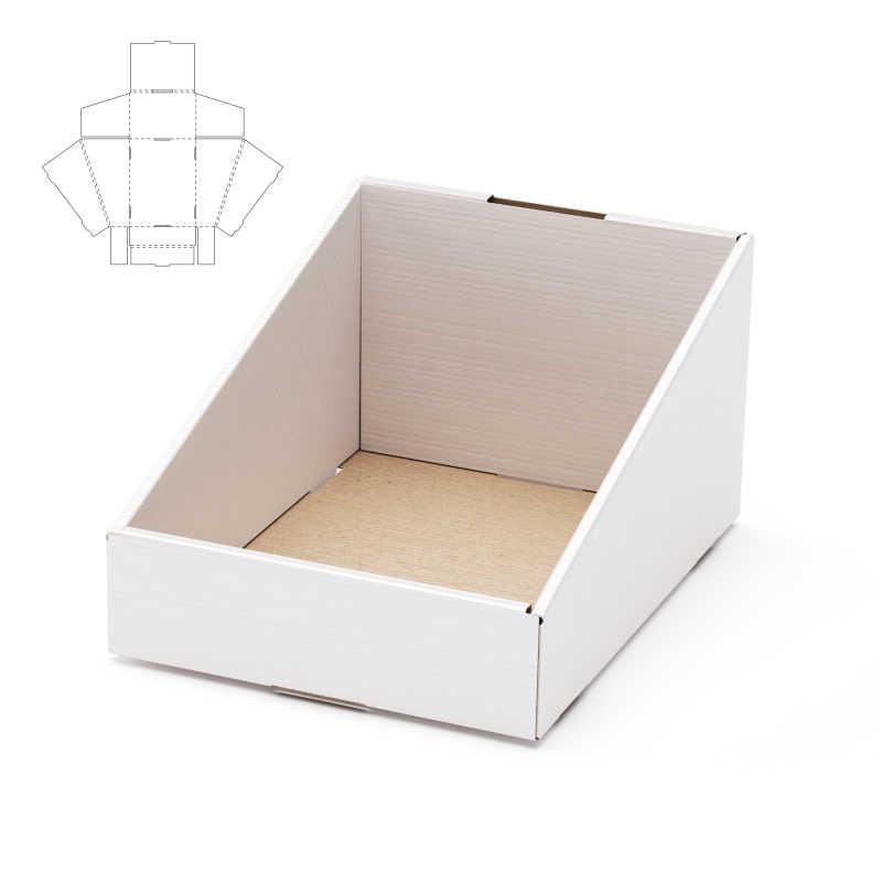 白色锥形纸板包装盒模板