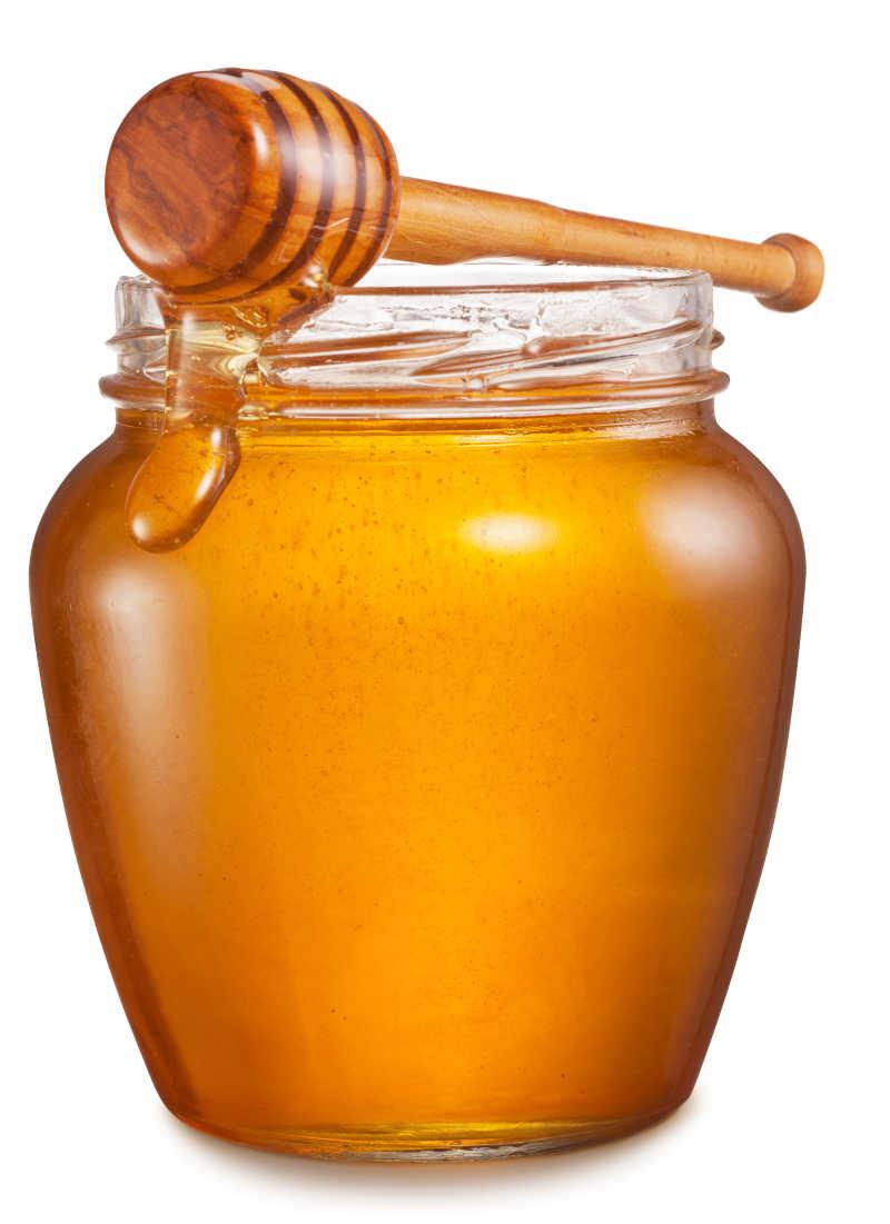 玻璃里装满蜂蜜