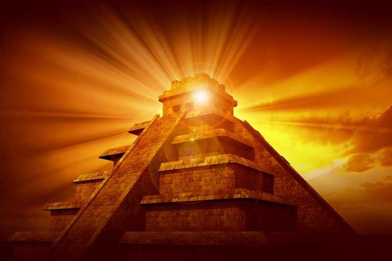 玛雅人的神秘的金字塔