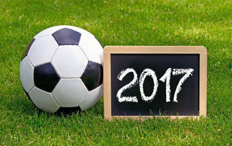 2017绿茵场地上的足球