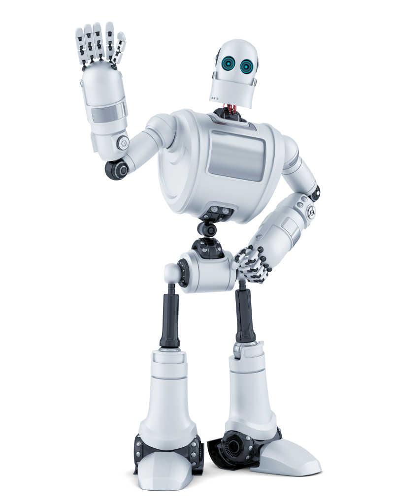 在挥手的机器人