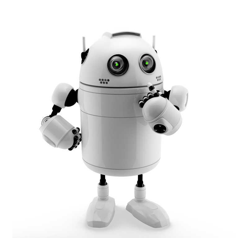 白色的可爱机器人