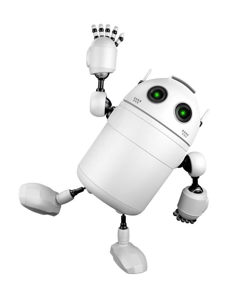 机器人在打招呼