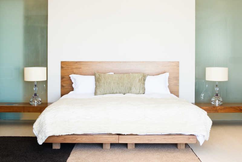 现代家居床和室内设计