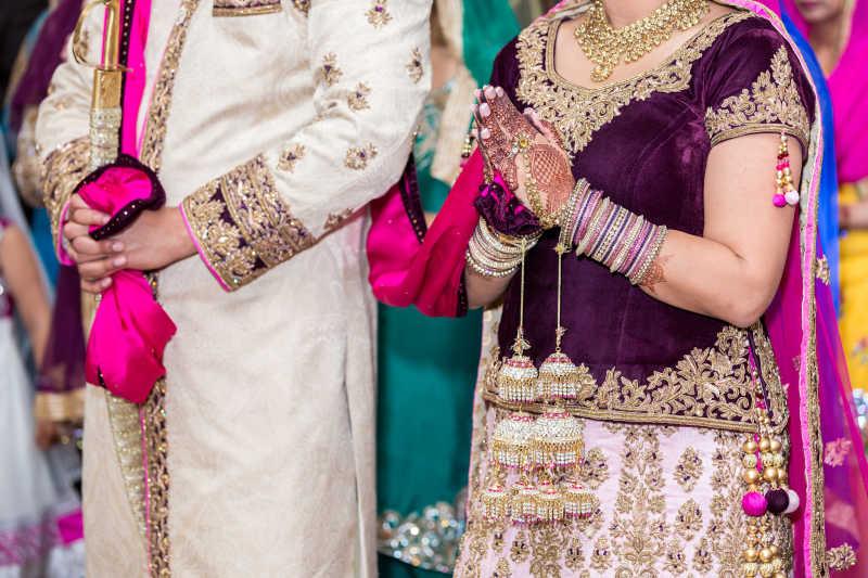 印度婚礼新娘新郎