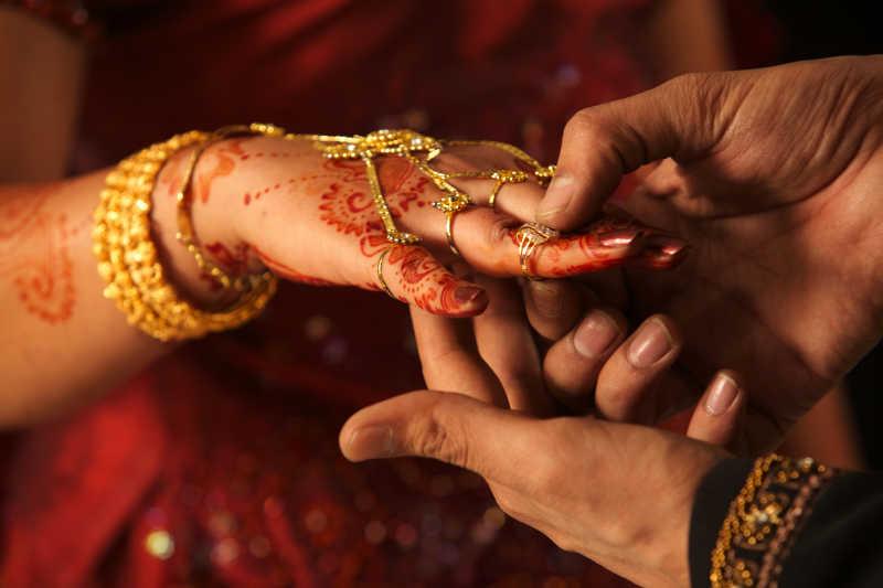 印度婚礼交换戒指
