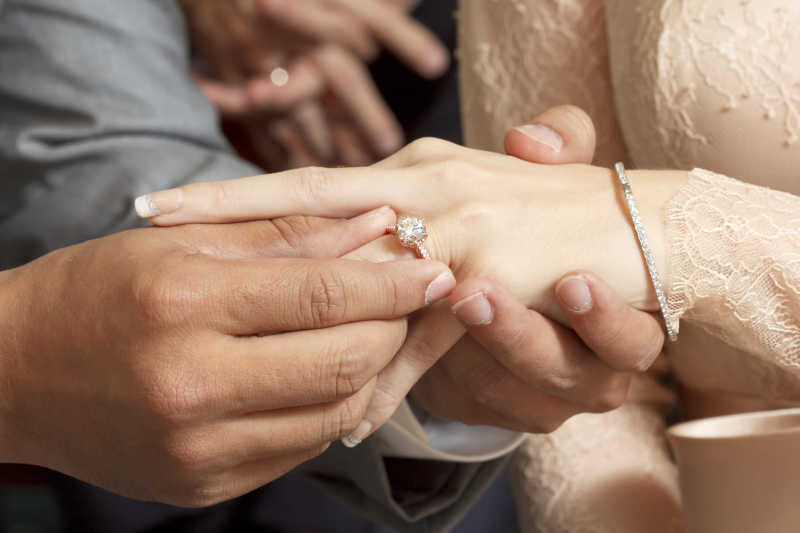 结婚戴戒指