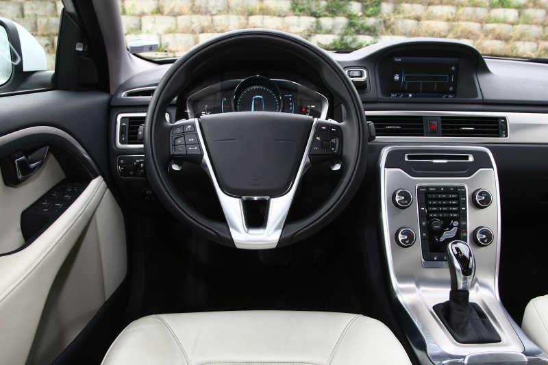 汽车内部的仪表板