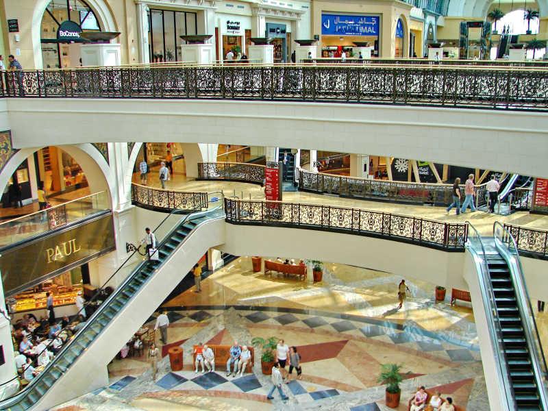 迪拜购物中心休闲区