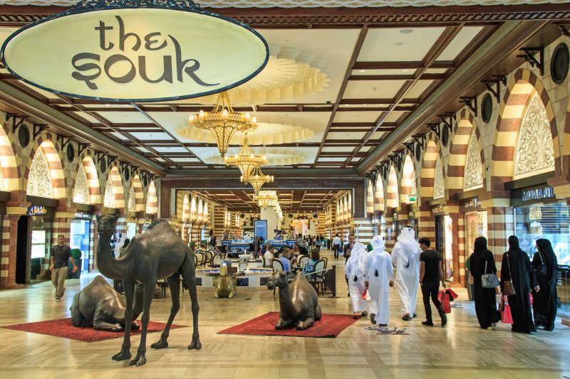 迪拜购物中心的黄金街