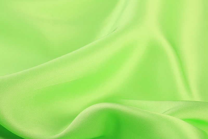 浅绿色光滑缎织物特写