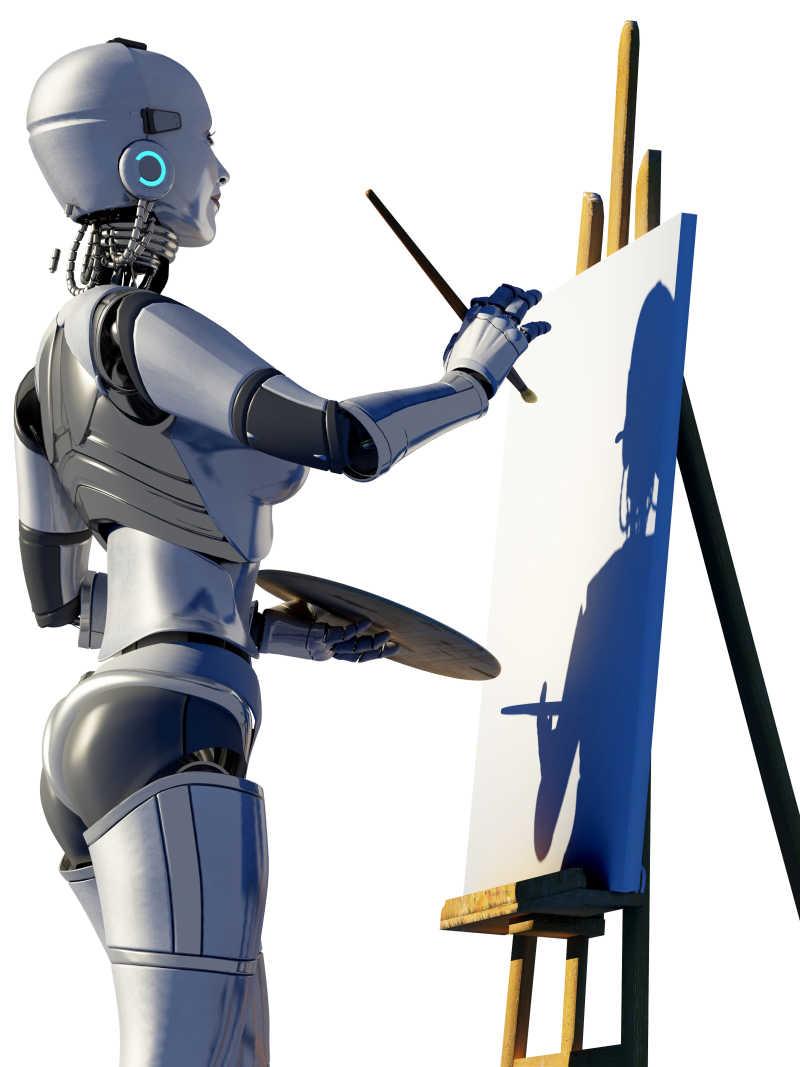 机器人画画