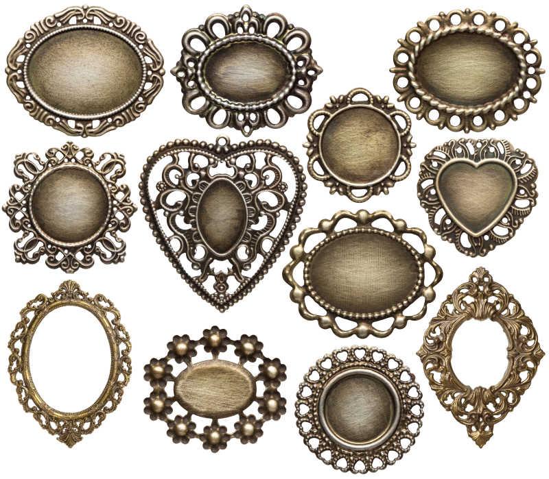 古典金属奖章框架