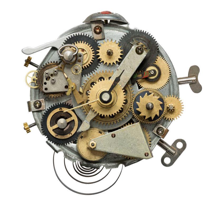 程序化的金属齿轮拼贴发条