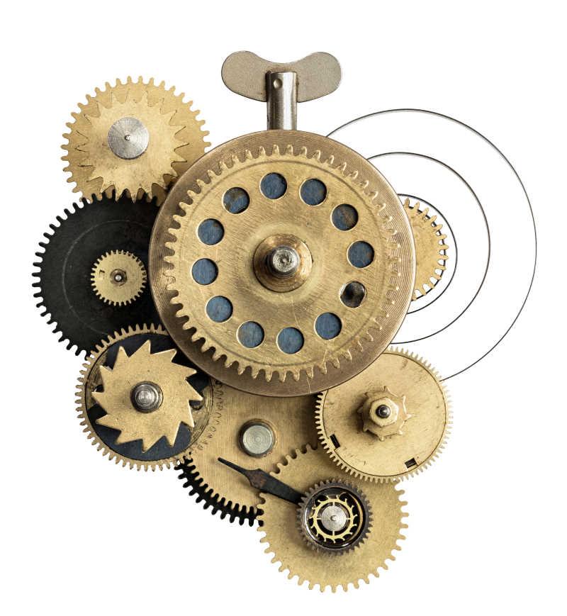 程序化的金属齿轮拼接发条