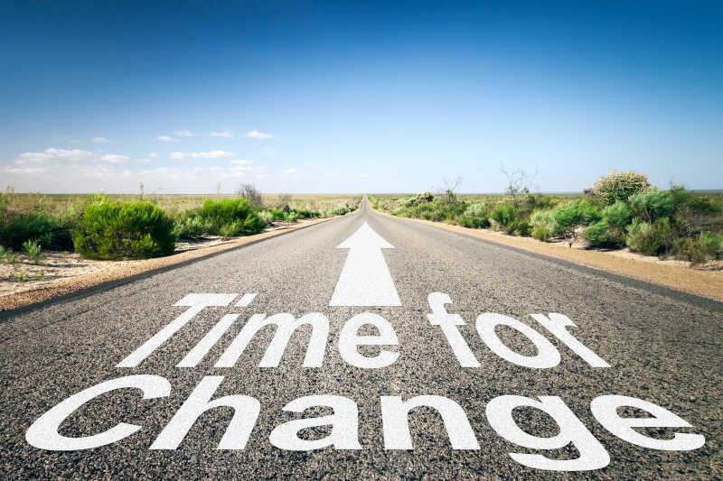 时间对于道路的改变概念