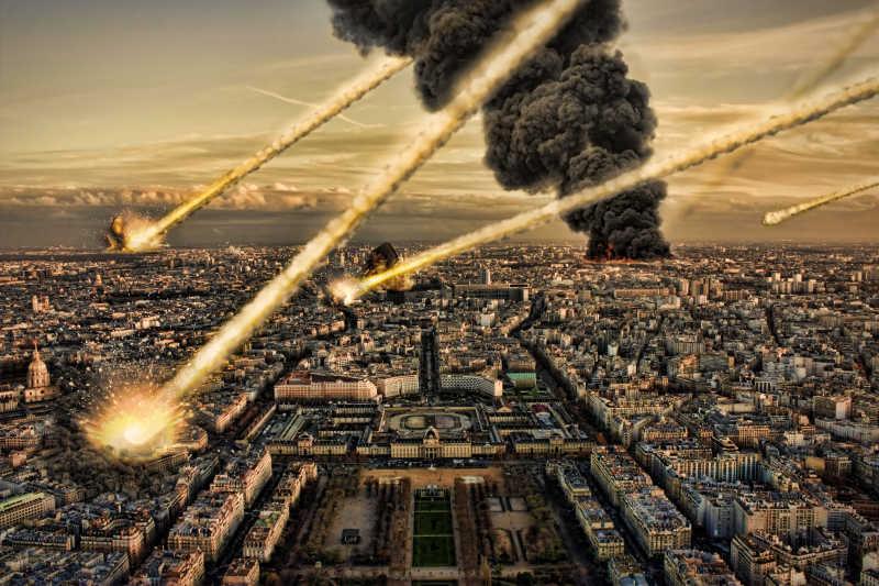 摧毁城市的陨石阵雨