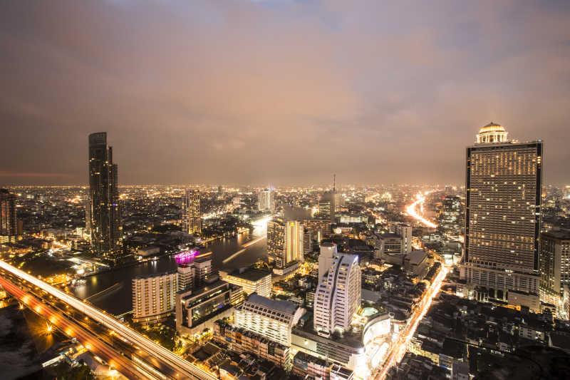 曼谷的夜景
