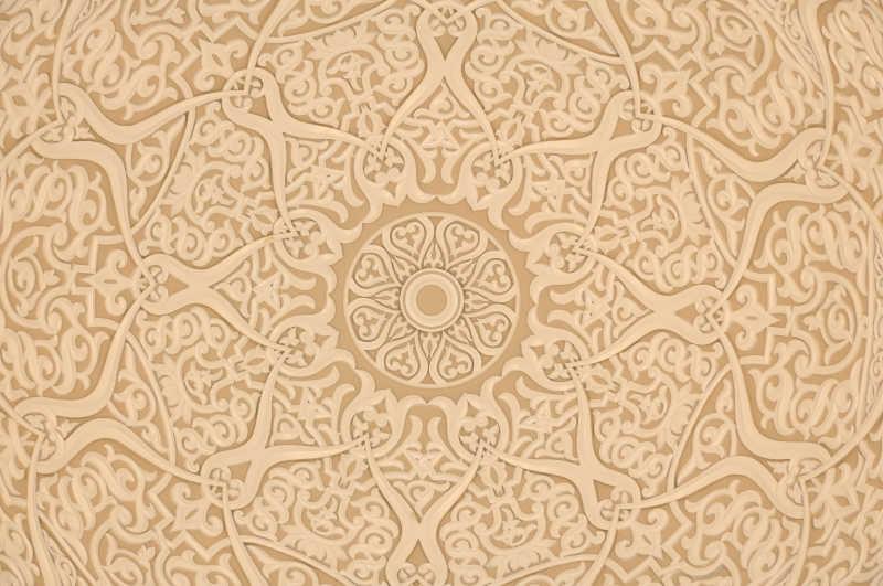阿拉伯花纹装饰纹理背景