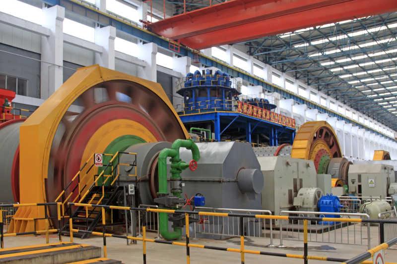在中国的重工业生产车间