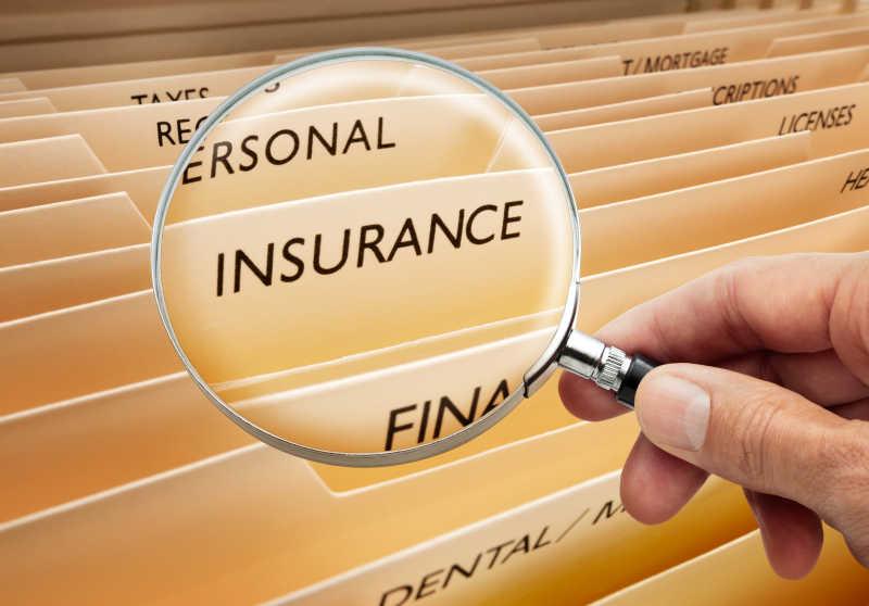 用放大镜找放保险文件的文件夹