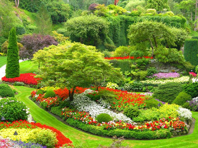 美丽的下沉式花园设计
