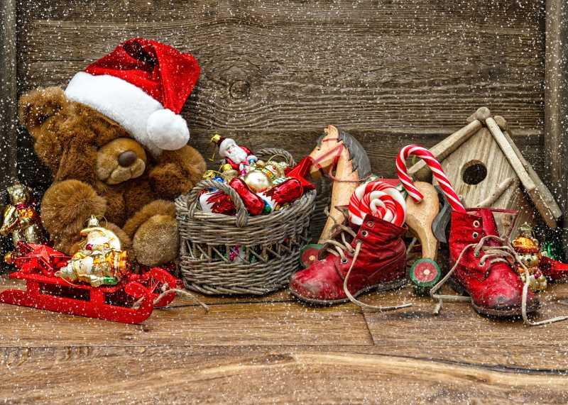 圣诞节木制玩具