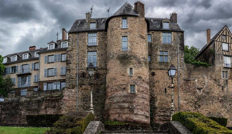 历史古老城堡建筑