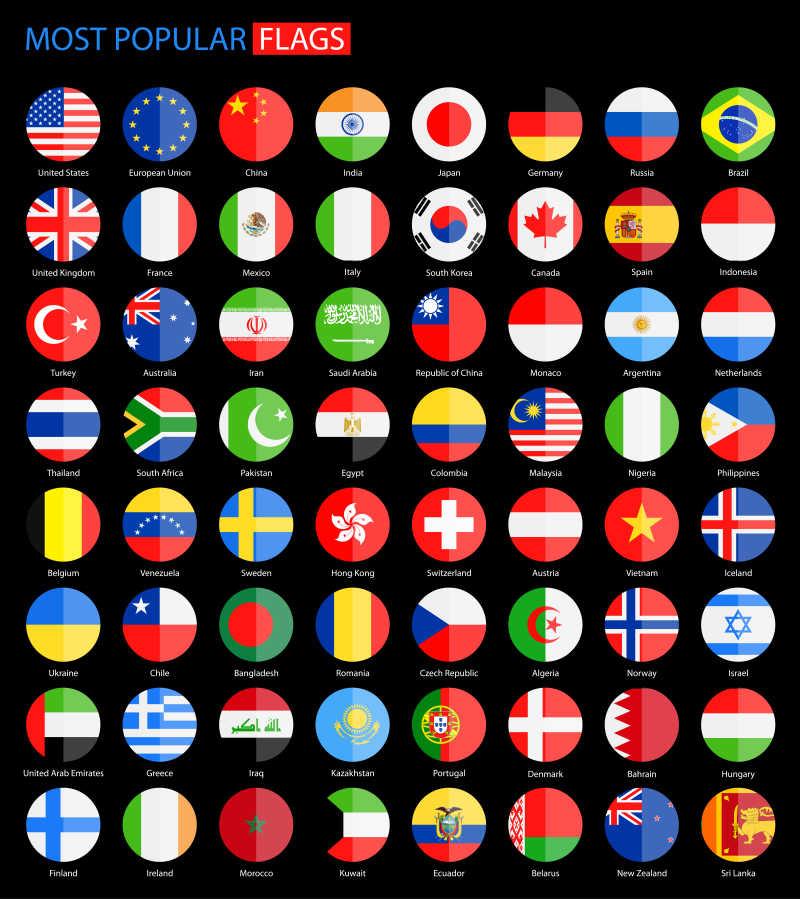 国家旗帜图标