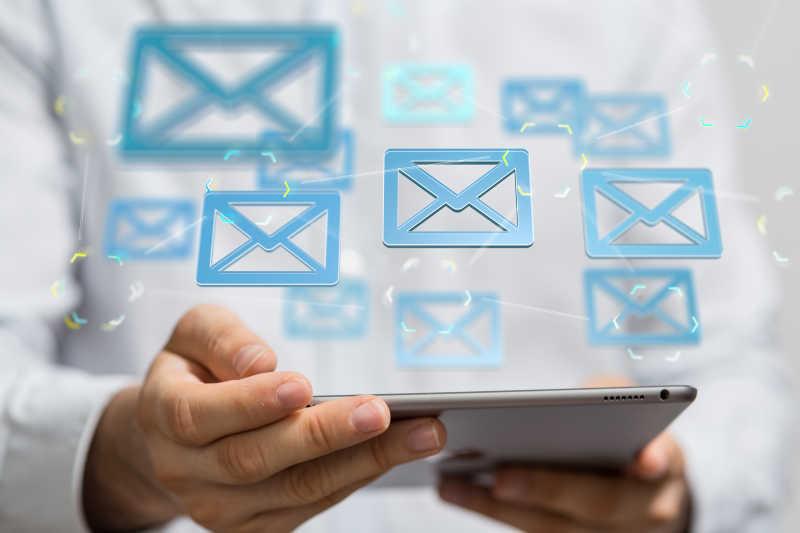 用平板电脑发送电子邮件