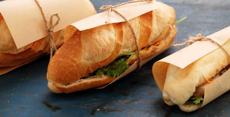 美味的夹心面包