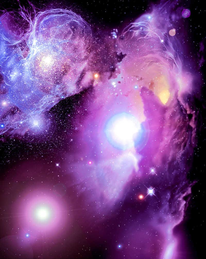 紫色梦幻星云