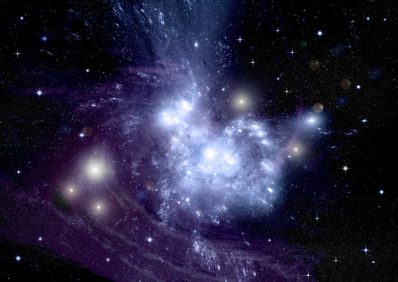 宇宙中美丽的旋涡星系
