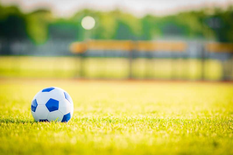 草坪上的足球