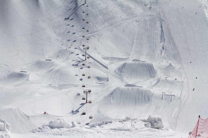 俄罗斯大型滑雪场
