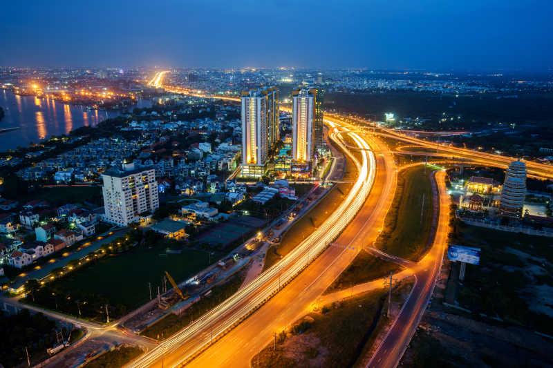 胡志明市惊人的夜景