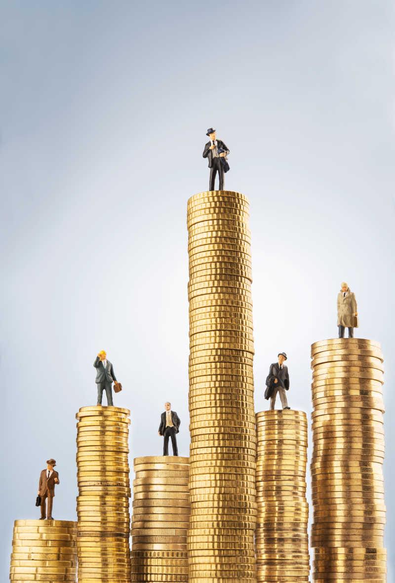 投资金之上的商业小雕像