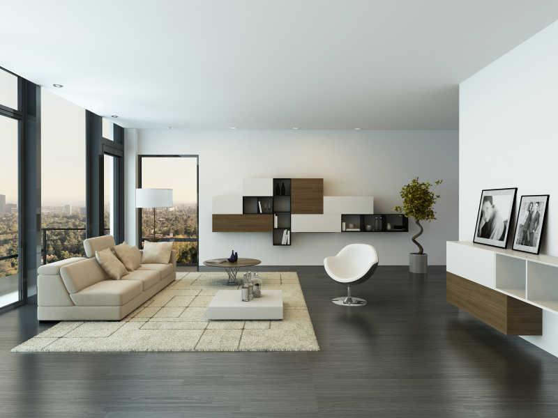 阁楼上的客厅设计
