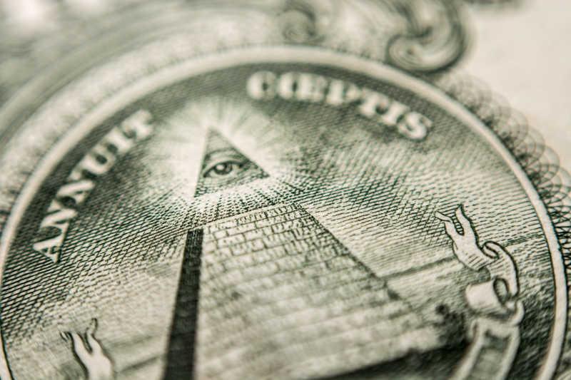 美国美钞超级微距特写
