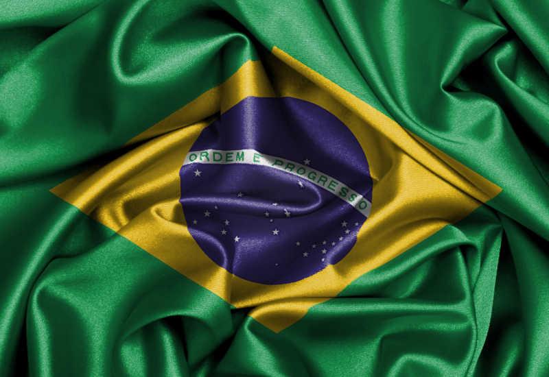 巴西国旗缎面旗帜