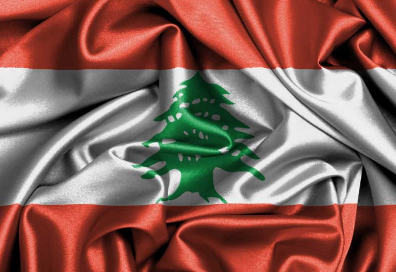 黎巴嫩国旗缎面旗帜