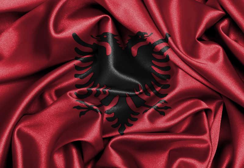 阿尔巴尼亚国旗缎面旗帜