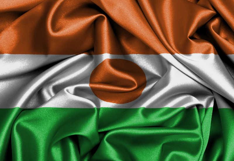 缎面旗帜尼日尔国旗