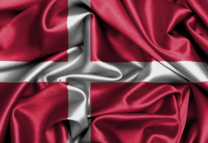 缎面旗帜丹麦国旗