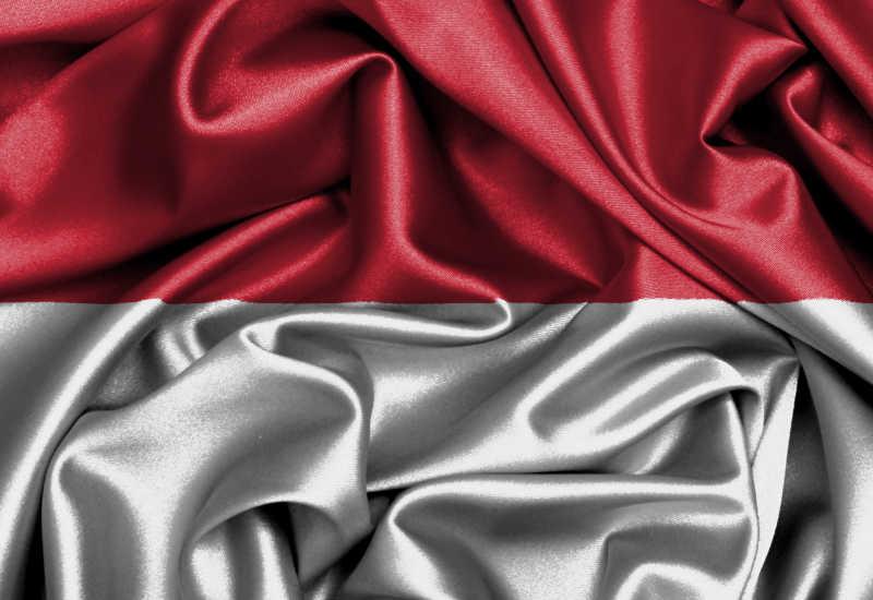 印度尼西亚国旗缎面旗帜