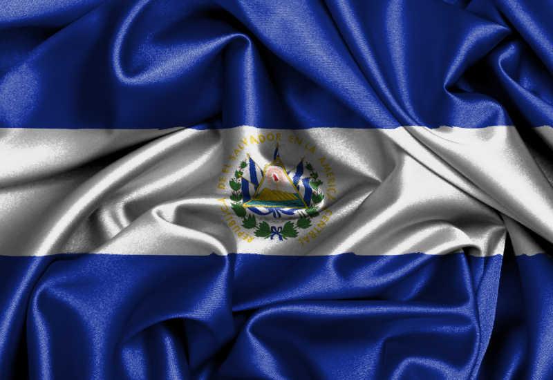 萨尔瓦多国旗缎面旗帜