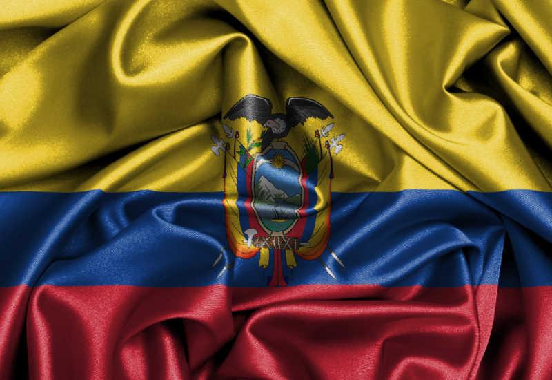 缎面旗帜厄瓜多尔国旗