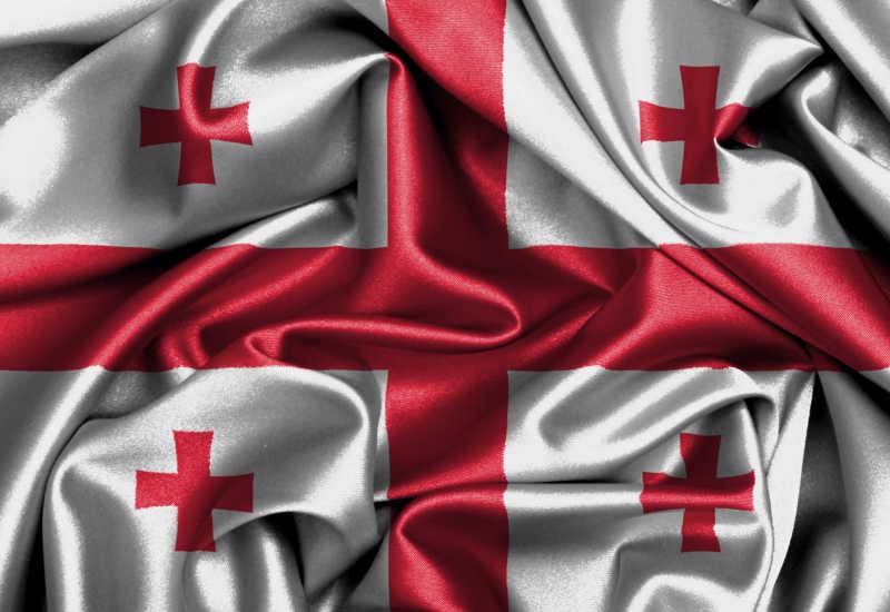 格鲁吉亚国旗缎面旗帜