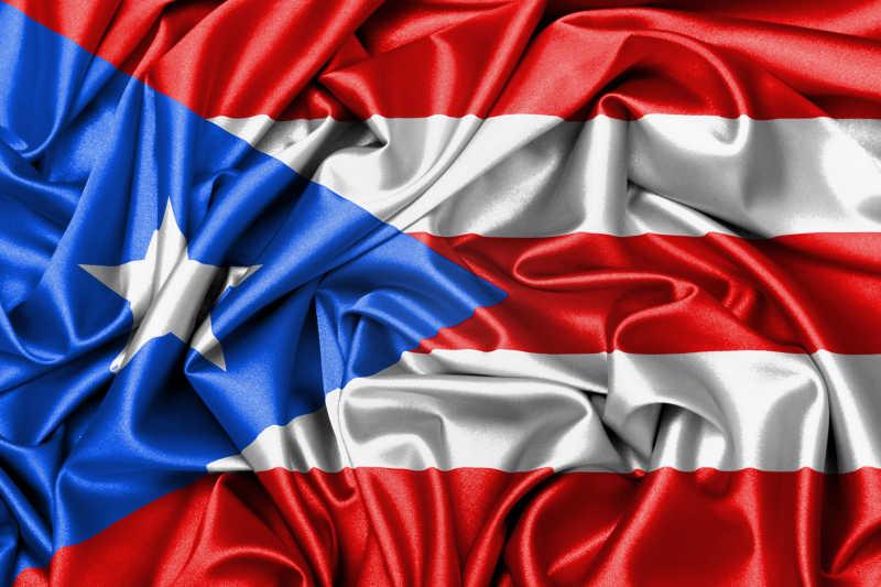 波多黎各国旗缎面旗帜